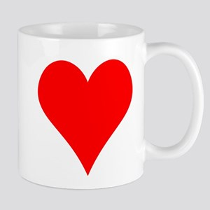 Simple Red Heart Mug