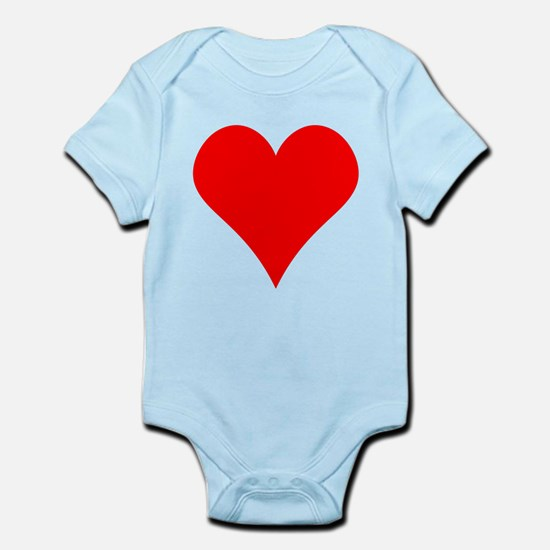 Simple Red Heart Body Suit