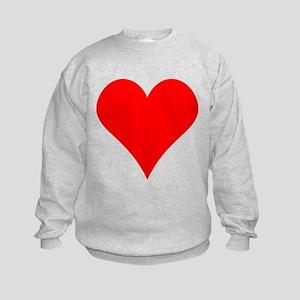 Simple Red Heart Sweatshirt