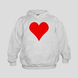 Simple Red Heart Hoodie