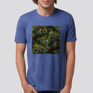 Peacock Feathers Invasion Mens Tri-blend T-Shirt