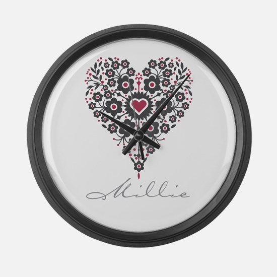 Love Millie Large Wall Clock