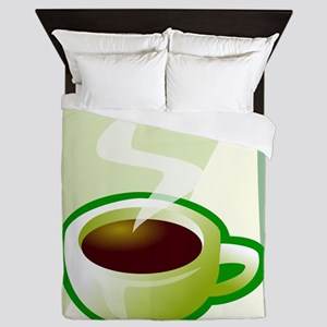 Art Deco Coffee Queen Duvet