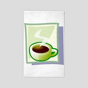 Art Deco Coffee 3'x5' Area Rug