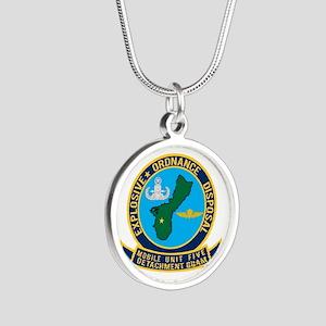EOD Mobile Unit 5 Guam Silver Round Necklace