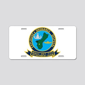 EOD Mobile Unit 5 Guam Aluminum License Plate
