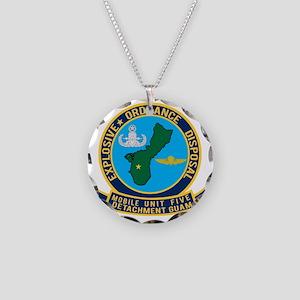 EOD Mobile Unit 5 Guam Necklace Circle Charm