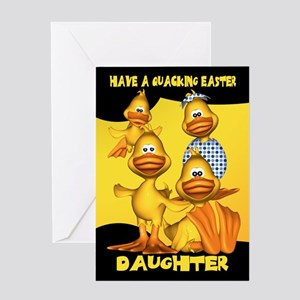 Daughter Easter Card With Fun Ducks, Quacking East