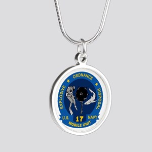 EOD Mobile Unit 17 Silver Round Necklace