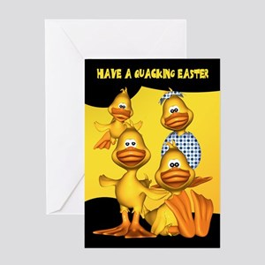 Easter Card With Fun Ducks, Quacking Easter