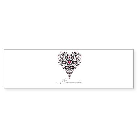 Love Nannie Bumper Sticker