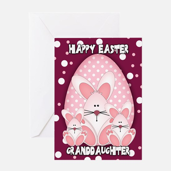 Gifts for easter egg designs unique easter egg designs gift granddaughter easter bunny greeting card with thre negle Choice Image