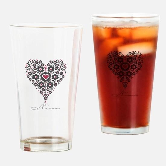 Love Nina Drinking Glass