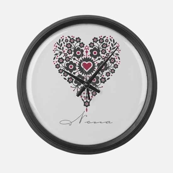 Love Nona Large Wall Clock