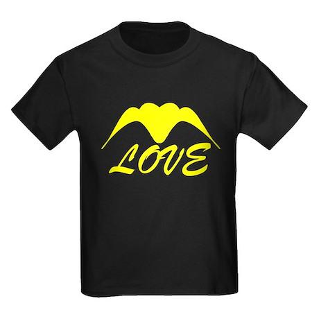 Yellow Wings Heart Love Kids Dark T-Shirt Yellow Wings ...