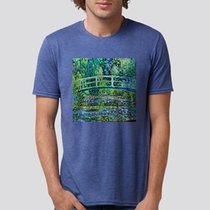 Monet - Water Lily Pond Mens Tri-blend T-Shirt