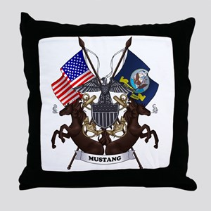 Mustang with Tails Throw Pillow