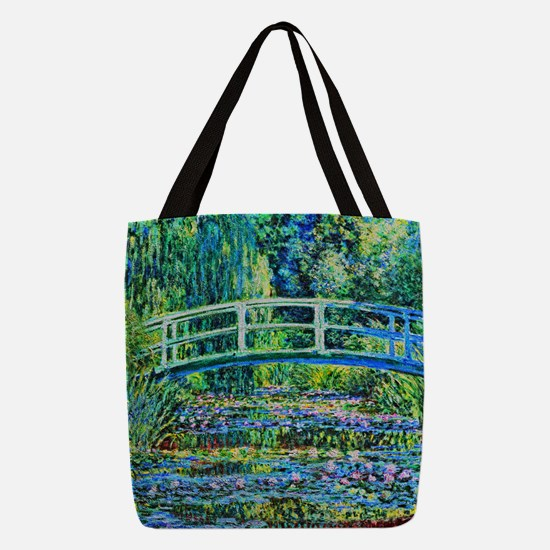 Monet - Water Lily Pond Polyester Tote Bag