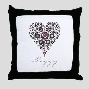 Love Peggy Throw Pillow