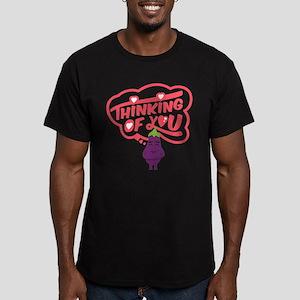 Emoji Eggplant Thinkin Men's Fitted T-Shirt (dark)