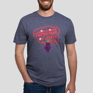 Emoji Eggplant Thinking Of Mens Tri-blend T-Shirt