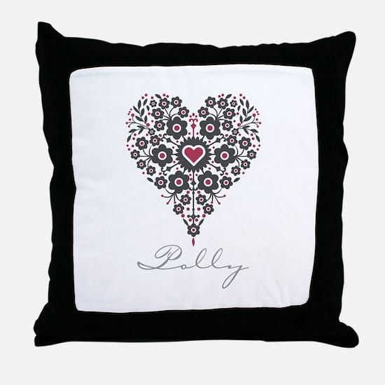 Love Polly Throw Pillow