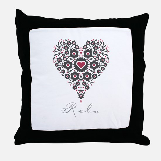 Love Reba Throw Pillow