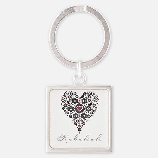 Love Rebekah Square Keychain