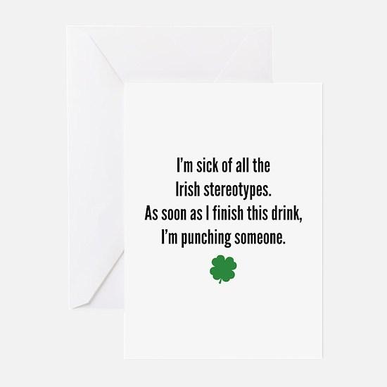 Irish stereotypes Greeting Cards (Pk of 10)