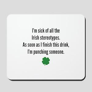 Irish stereotypes Mousepad