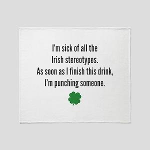 Irish stereotypes Throw Blanket