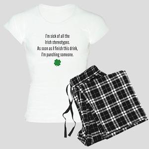 Irish stereotypes Women's Light Pajamas