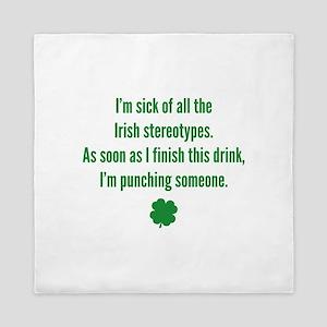 Irish stereotypes Queen Duvet