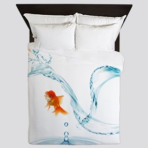 Splashing Fish Queen Duvet