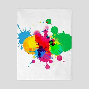 Abstract Paint SplattersTwin Duvet