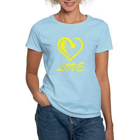 Yellow Love Heart Women's Classic T-Shirt Yellow Love ...