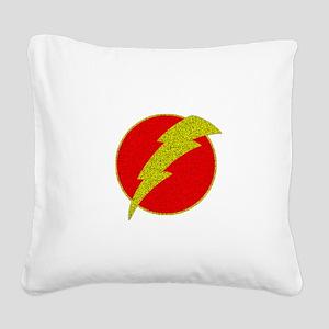 Flash Bolt Superhero Square Canvas Pillow