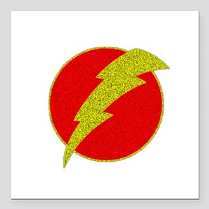 "Flash Bolt Superhero Square Car Magnet 3"" x 3"""