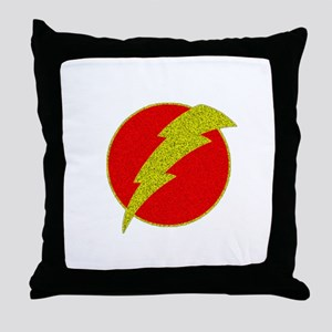 Flash Bolt Superhero Throw Pillow
