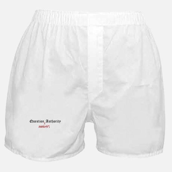 Question Amarion Authority Boxer Shorts