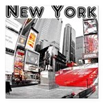 "New York Square Car Magnet 3"" x 3"""