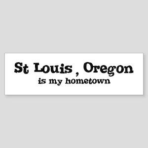 St Louis - Hometown Bumper Sticker