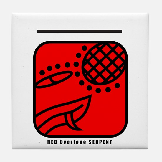 RED Overtone SERPENT Tile Coaster