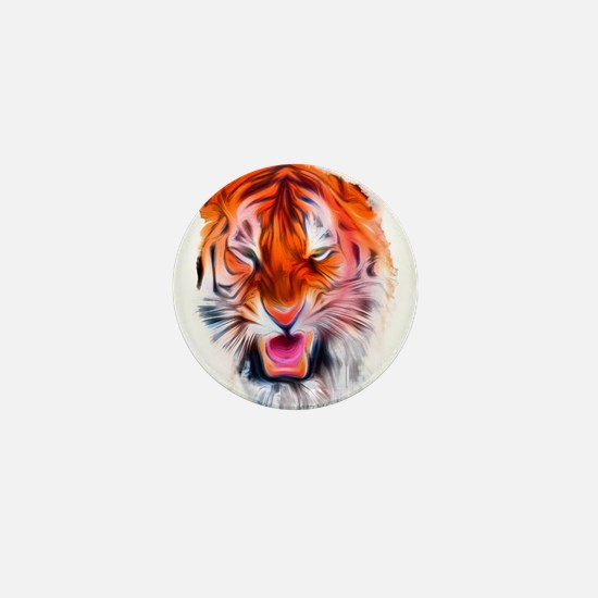 Angry Tiger Mini Button