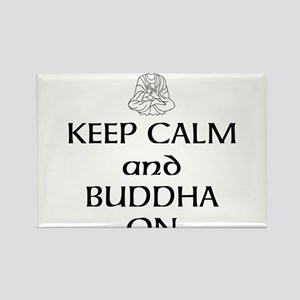 Keep Calm and Buddha On Rectangle Magnet