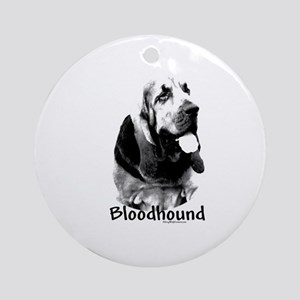 Bloodhound Charcoal Ornament (Round)