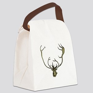 Elk Antlers Canvas Lunch Bag