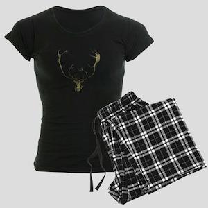 Elk Antlers Women's Dark Pajamas