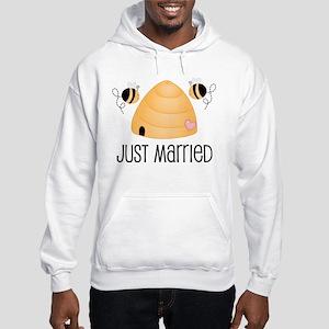 Just Married Beehive Hooded Sweatshirt
