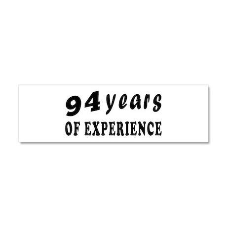 94 years birthday designs Car Magnet 10 x 3